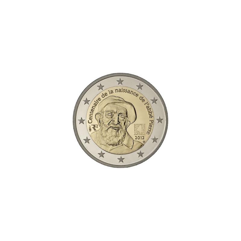 France 2012 - 2 euro 100th birth of Abbé Pierre
