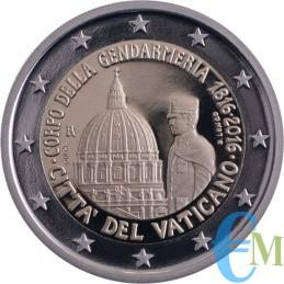 2 euro Proof 200° della Gendarmeria Vaticana moneta
