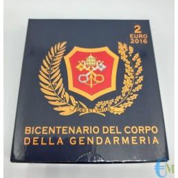 2 euro Proof 200° della Gendarmeria Vaticana confezione
