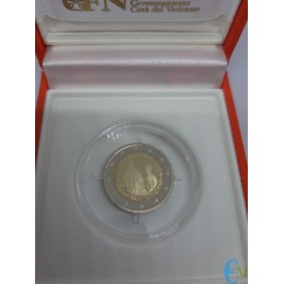 2 euro Proof 200° della Gendarmeria Vaticana da vicino