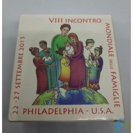 2 euro Proof VIII Incontro Mondiale delle Famiglia Philadelphia confezione