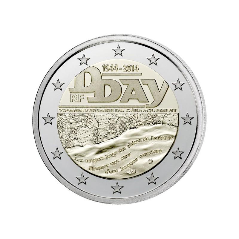 Francia 2014 - 2 euro commemorativo 70° anniversario dello sbarco in Normandia D-Day.