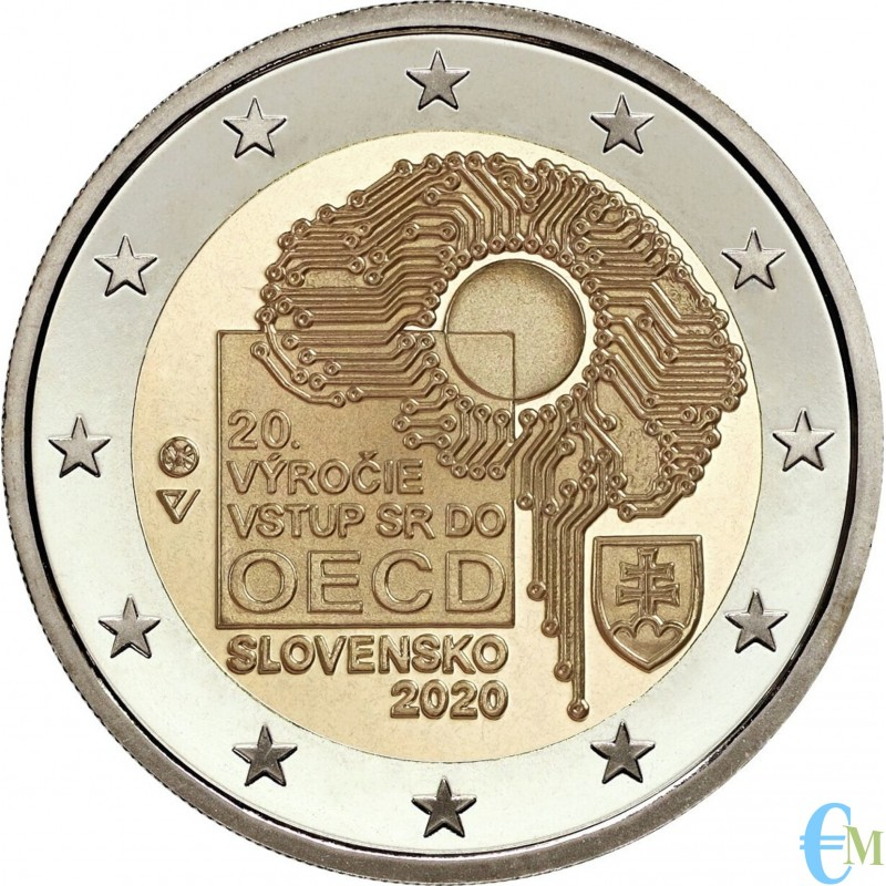 Slovacchia 2020 - 2 euro commemorativo 20° anniversario dell'adesione all' OCSE