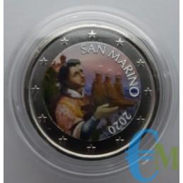San Marino 2020 - 2 euros coloreados