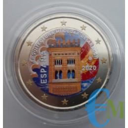 2 euro colorato Architettuta Mudejar d'Aragona