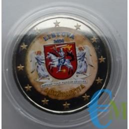 2 euro colorato Regioni Della Lituania Aukstaitija