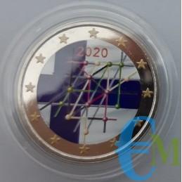2 euro colorato 100° Università di Turku