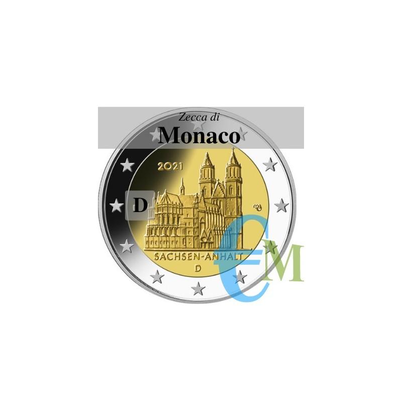 2 euro Cattedrale di Magdeburgo - zecca D