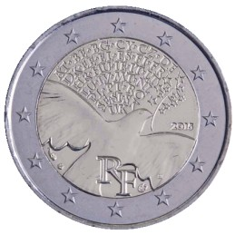 France 2015 - 2 euros 70 ans de paix en Europe