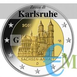 2 euro Cattedrale di Magdeburgo - zecca G