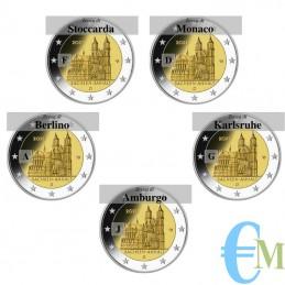 2 euro Cattedrale di Magdeburgo - le 5 zecche