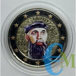 2 euro colorato 125° Frans Eemil Sillanpaa