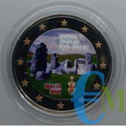 2 euro colorato Templi di Skorba