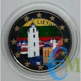 2 euro colorato Vilnius città della cultura