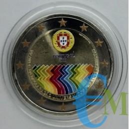 2 euro colorato Diritti dell'uomo