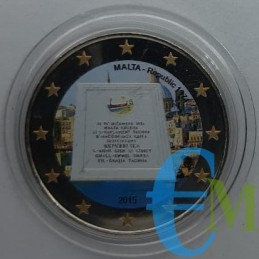 2 euro colorato 1974 Proclamazione della Repubblica