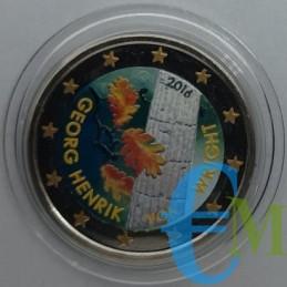 2 euro colorato 100° Georg von Wright