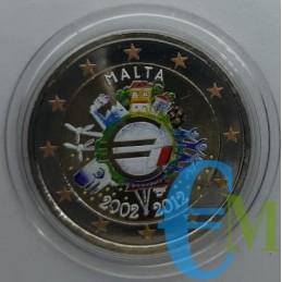 2 euro colorato 10° Euro Moneta