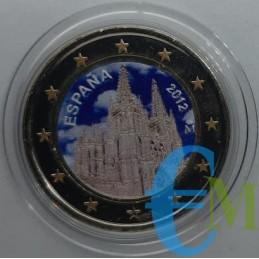 2 euro colorato cattedrale di Burgos