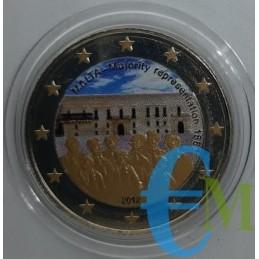 2 euro commemorativo colorato 2° moneta della serie dedicata alla storia della costituzione.