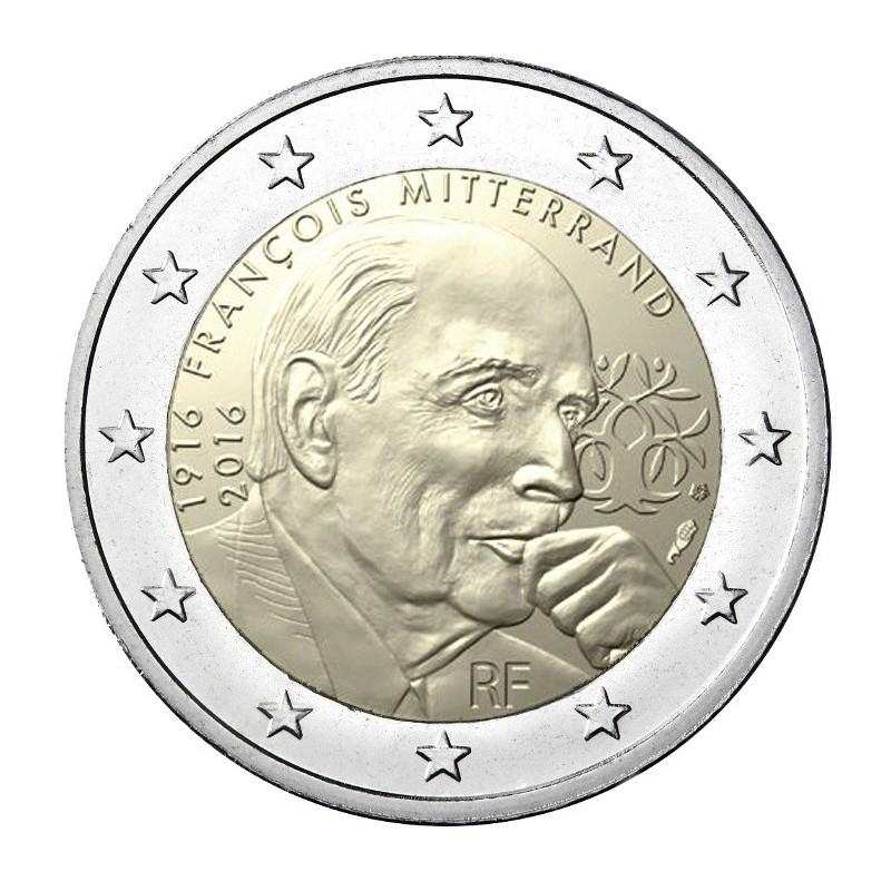 Francia 2016 - 2 euro commemorativo 100° anniversario della nascita di Francois Mitterrand (1916 - 1996), politico francese.