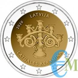 Lettonia 2020 - 2 euro commemorativo Ceramiche della Letgallia.