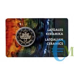 2 euro Ceramiche della Letgallia BU in Coincard