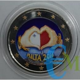 2 euro commemorativo colorato 1° moneta della serie 'Dai Bambini con Solidarietà'