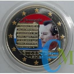 2 euro colorato Inno nazionale.