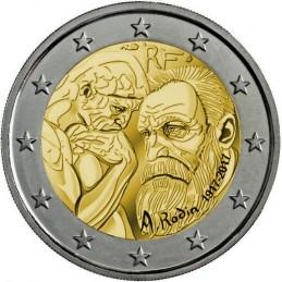 Francia 2017 - 2 euro commemorativo 100° anniversario della morte di Auguste Rodin (1840 - 1917), scultore e pittore francese.