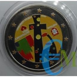 2 euro commemorativo colorato Guimaraes capitale europa della cultura.