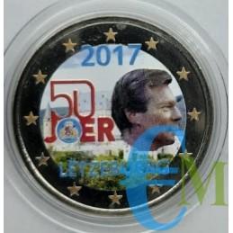 2 euro colorato 50° esercito volontario