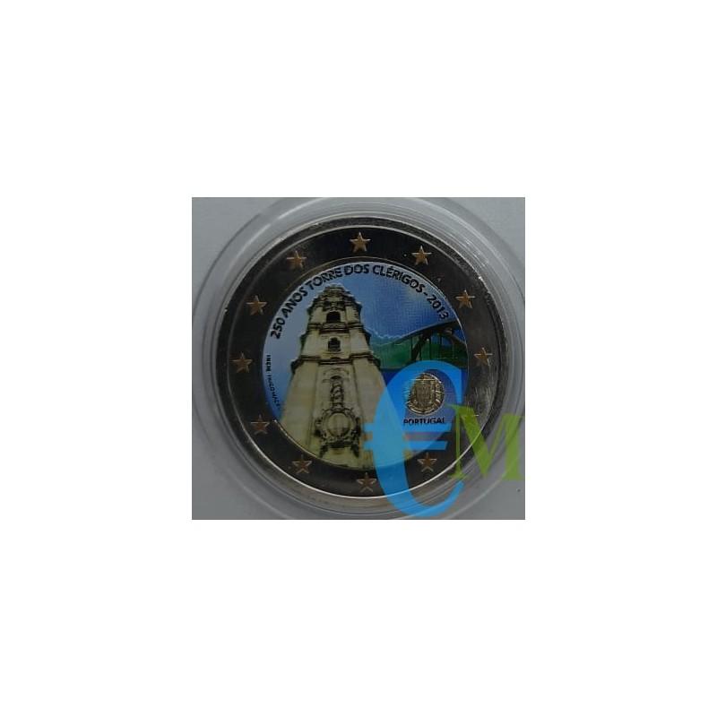 2 euro colorato 250° della Torre dos Clerigos