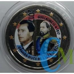 2 euro colorato 200° nascita Granduca Guglielmo III