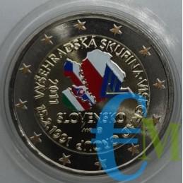 2 euro colorato  20° Gruppo di Visegrad