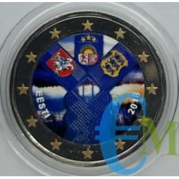 2 euro commemorativo colorato 100° anniversario della fondazione di Lituania, Lettonia ed Estonia