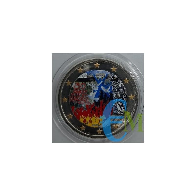 2 euro commemorativo colorato 30° anniversario della caduta del Muro di Berlino - zecca casuale