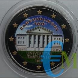 2 euro colorato 100° Università di Tartu