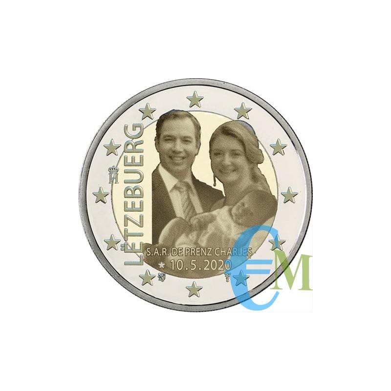 2 euro nascita Principe Carlo versione foto