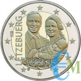 2 euro nascita Principe Carlo versione in rilievo