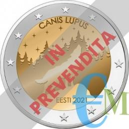 Prevendita 2 euro il Lupo Animale Nazionale dell'Estonia