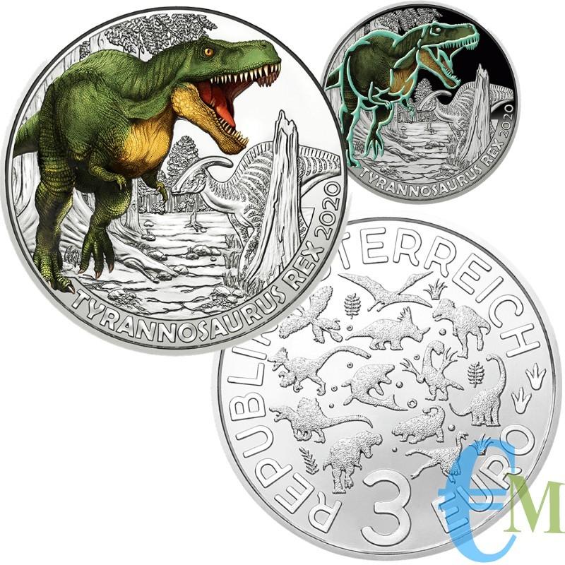 3 euro Tirannosauro Rex - 5° moneta Supersaurs