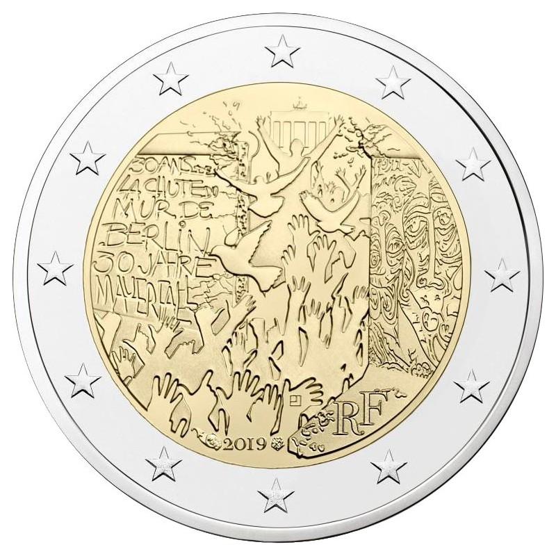 Francia 2019 - 2 euro commemorativo 30° anniversario della caduta del muro di Berlino.