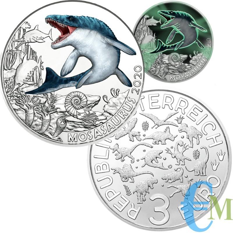 3 euro Mosasaurus Hoffmanni - 2° moneta Supersaurs