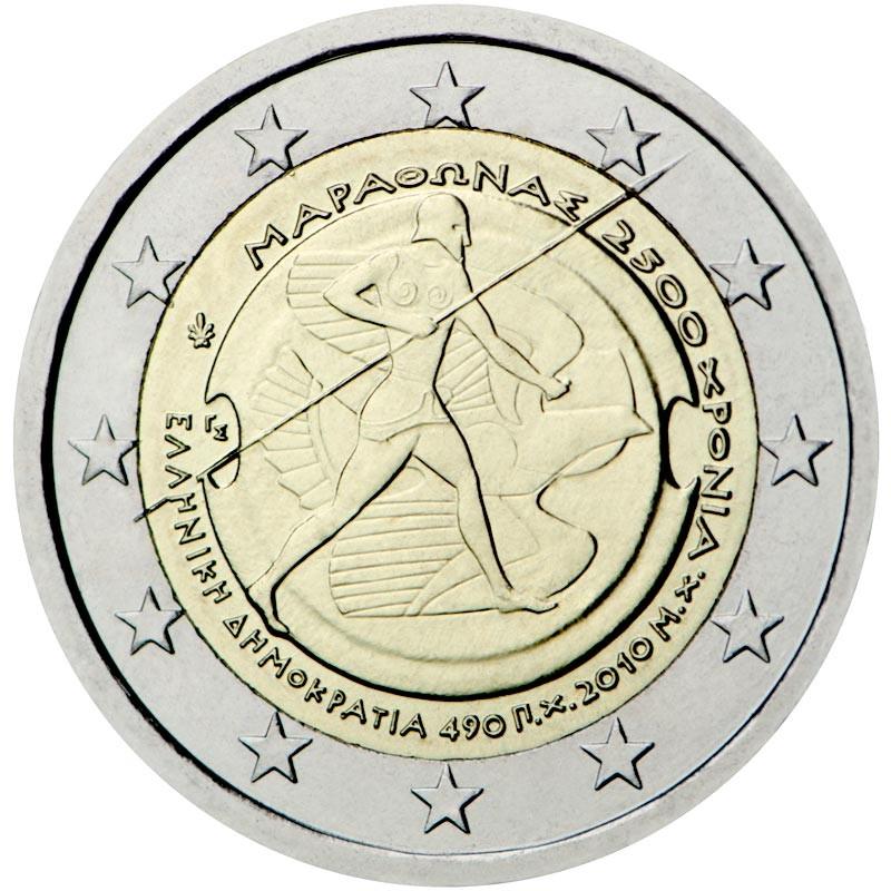 Grèce 2010 - 2 euros 2500e anniversaire de la bataille de Marathon