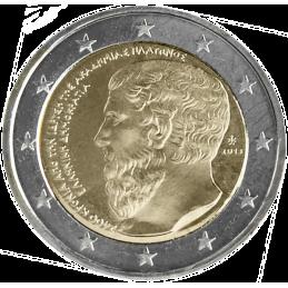 Grecia 2013 - 2 euros conmemorativos del 2400 aniversario de la fundación de la Academia de Atenas.