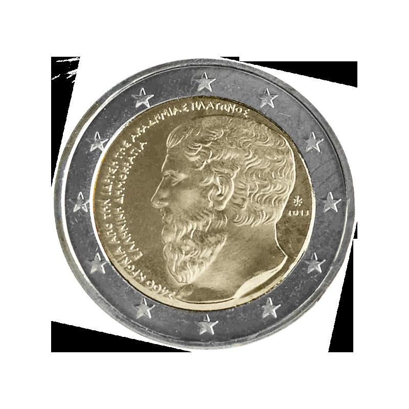 Grèce 2013 - 2 euros commémorative du 2400e anniversaire de la fondation de l'Académie d'Athènes.