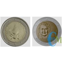 2 euro commemorativo 80° anniversario della fondazione del Corpo Nazionale dei Vigili del Fuoco e 150° nascita Maria Montessori
