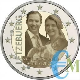 2 euro proof nascita Principe Carlo versione foto