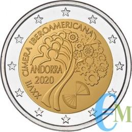 2 euro 27° Vertice Iberoamericano Fondo Specchio FS moneta